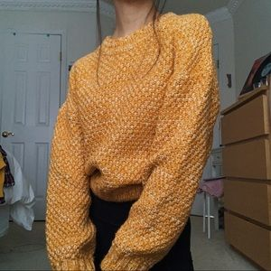FOREVER 21 mustard yellow knit sweater NWOT